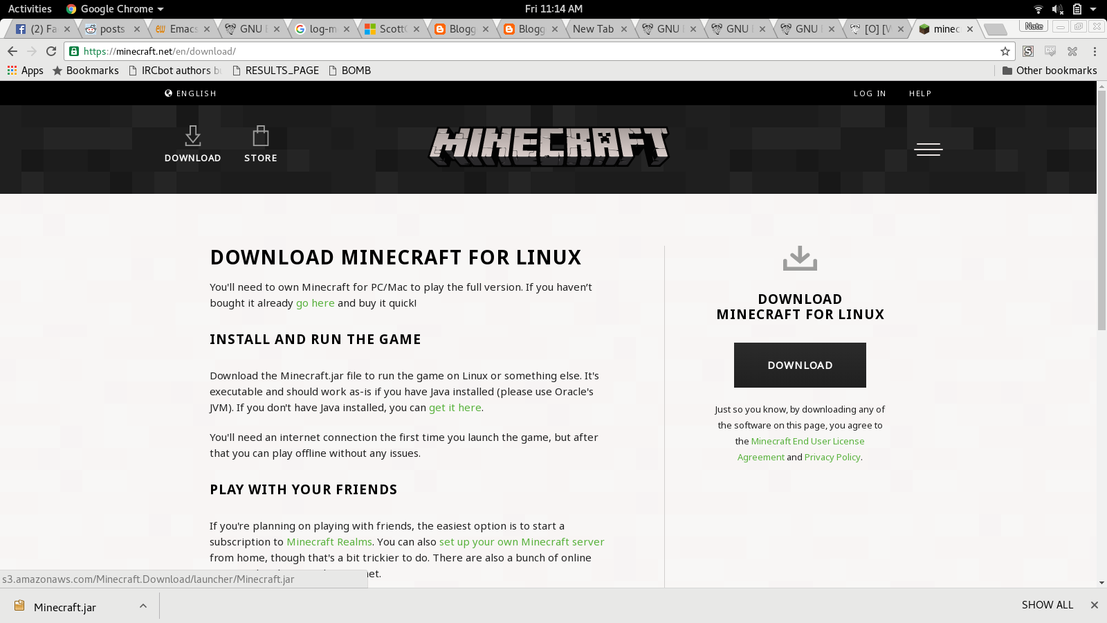 Profectium: Installing Minecraft in Fedora 23 and 24