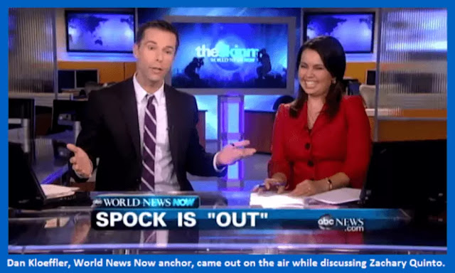 ABC World News Now anchors Dan Kloeffler and Yunji de Nies on air when Kloeffler came out.