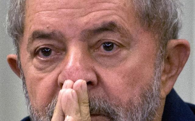 O medo estampado no rosto do ex-presidente Lula