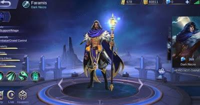 Dark Necro Skin Pertama Untuk Hero Baru Faramis