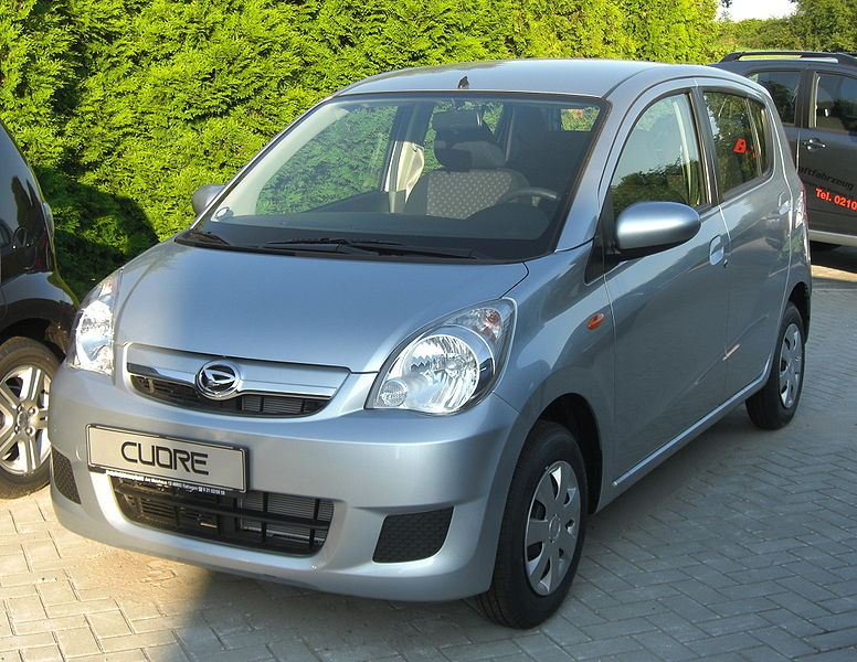 the daihatsu mira (also known as the cuore, domino, and more recently  charade), is a kei car-type vehicle built by the japanese car maker daihatsu