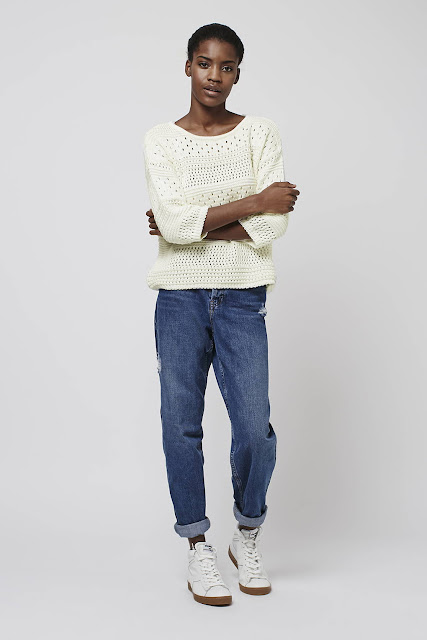 cream hole jumper, topshop cream cutout jumper,