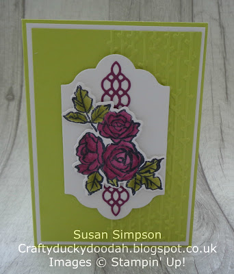 Stampin' Up! UK Independent  Demonstrator Susan Simpson, Craftyduckydoodah!, Petal Palette, January 2018 Coffee & Cards project, Supplies available 24/7 from my online store,