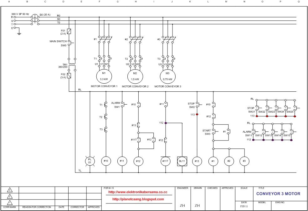 Wiring atau pengawatan conveyor 3 motor serempak elektronika bersama peralatan yang diperlukan untuk wiring diatas 1 cheapraybanclubmaster Images