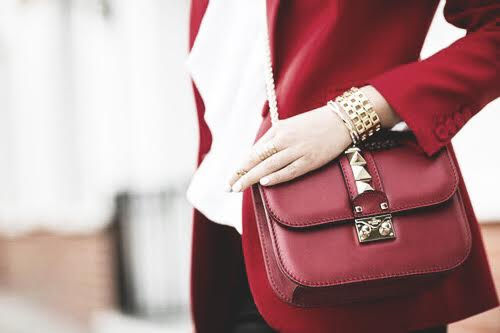 valentino red chain bag fashion
