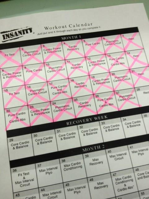 Pretty Random Things : INSANITY: Day 22 to 27 (Week 4)