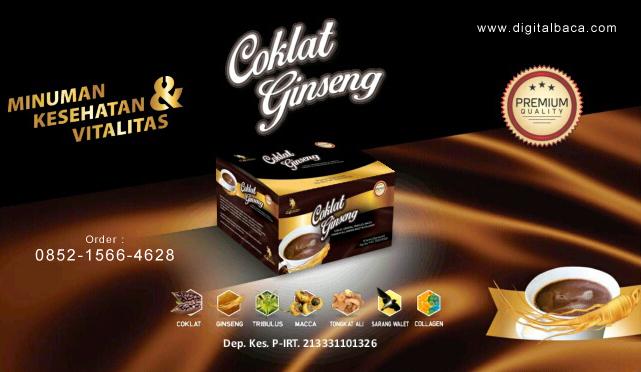 GANESH Cokelat Ginseng | Minuman Kesehatan & Vitalitas
