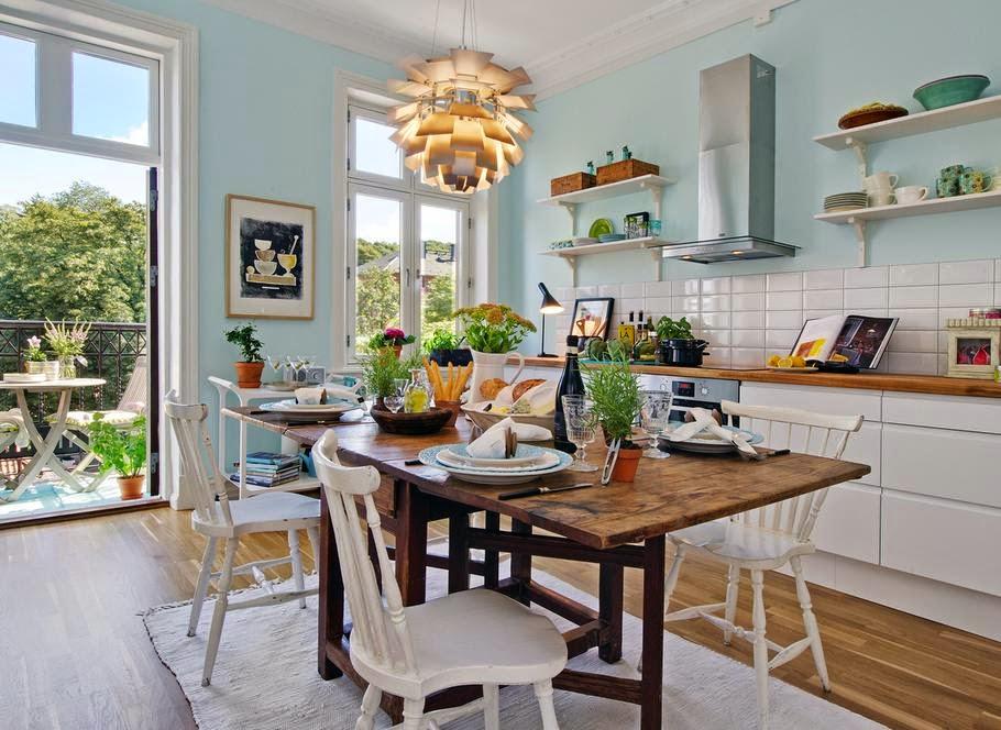 Cozinhas decoradas estilo vintage decora o e ideias - Casas decoradas estilo vintage ...