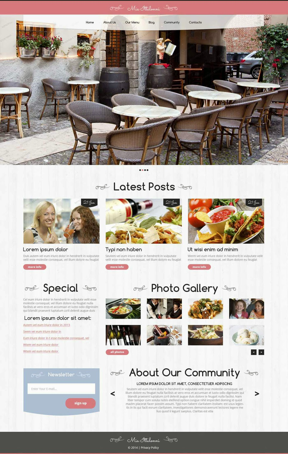 Download Free WordPress Restaurant Theme