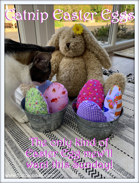 Crafting With Cats Easter Special ©BionicBasil®  Catnip Easter Eggs with Blossom and Melvyn