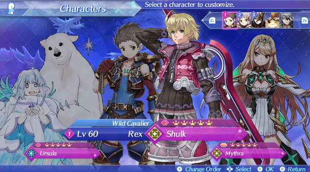 Xenoblade Chronicles 2 Shulk blade artwork characters screen