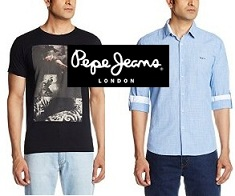 Flat 50% – 70% Off on Pepe Jeans Clothing + 20% Cashback @ Amazon