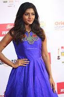 Eesha in Cute Blue Sleevelss Short Frock at Mirchi Music Awards South 2017 ~  Exclusive Celebrities Galleries 055.JPG