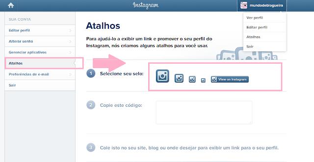 Como adicionar o botão de seguir do instagram no blog