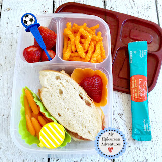 My Epicurean Adventures: Lunch Box Fun 2015-16: Weeks #23-28. Lunch box ideas, school lunch ideas, lunches, french bread sandwich