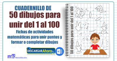 Cuadernillo 50 dibujos para unir del 1 al 100