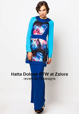 lace and printed design baju raya