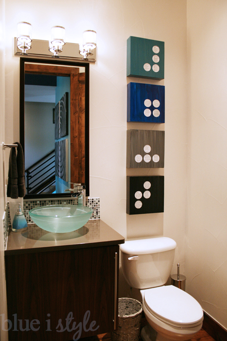 Blue I Style Home Tour Modern Powder Room