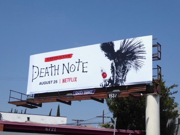 Death Note movie billboard