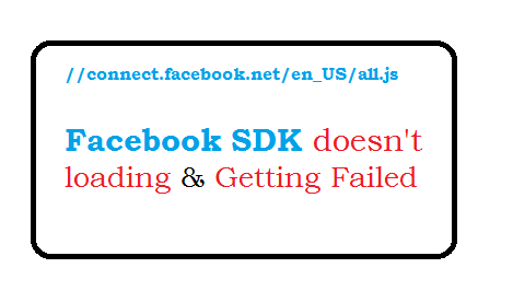 Facebook SDK doesn't loading and its getting failed