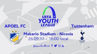 Πληροφορίες για τον αγώνα του ΑΠΟΕΛ-Tottenham  για το UEFA Youth League