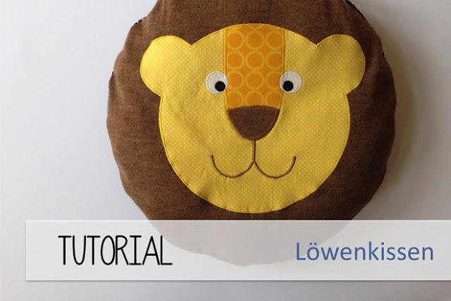 PS: Hätte ich nicht mit dem Strickpulli gearbeitet, hätte ich wahrscheinlich das Gesicht des Löwen größer ausgeschnitten und einen Ausschnitt in Gesichts-Form aus dem Mähnen-Stoff geschnitten und die