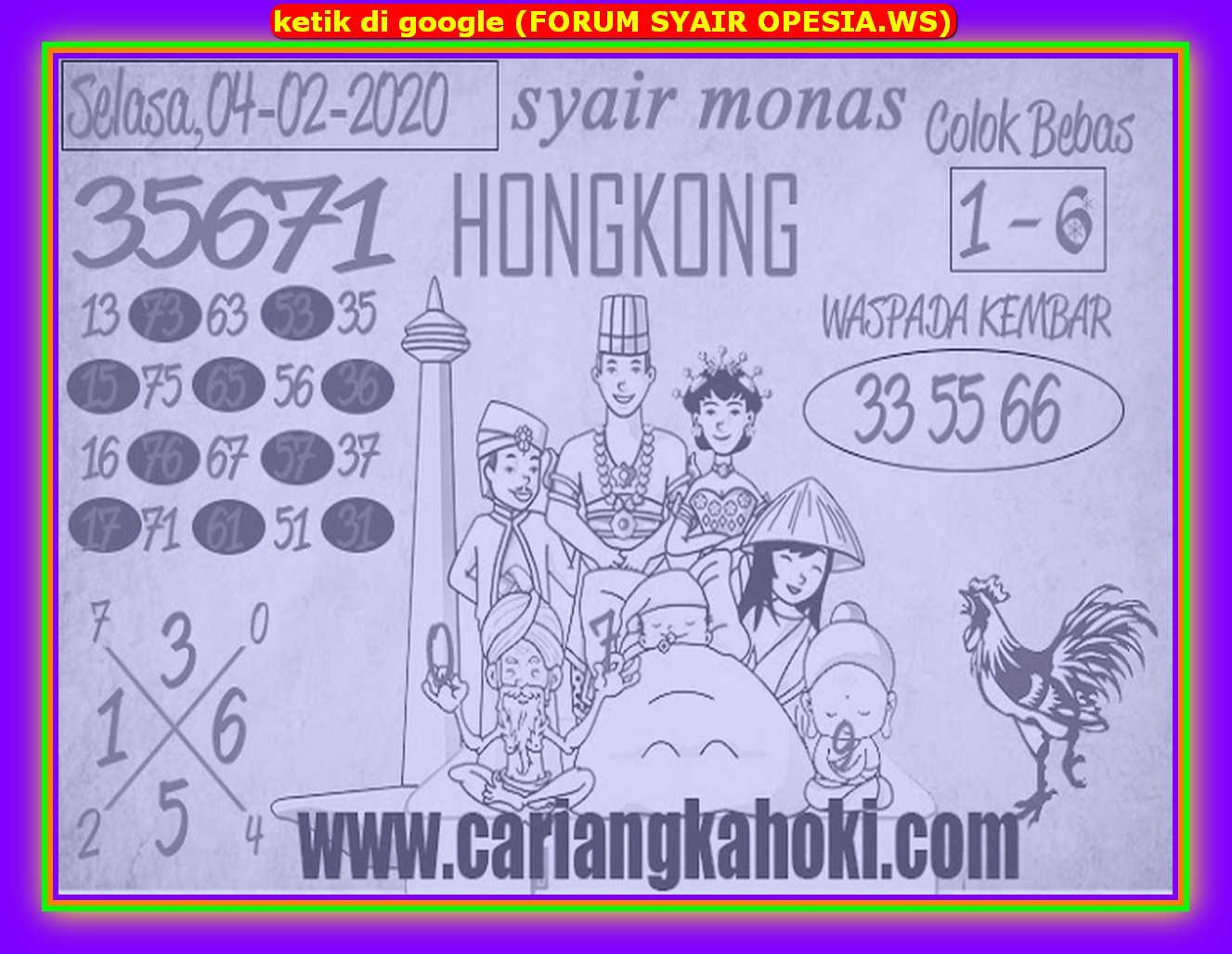 Kode syair Hongkong Selasa 4 Februari 2020 194