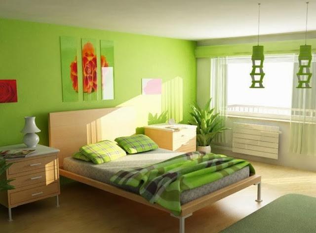 Desain Kamar Tidur Nuansa Hijau Kreasi Rumah