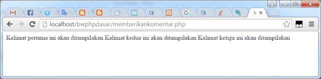 Cara membuat komentar di kode PHP