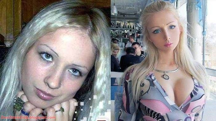 Human Barbie Valeria Lukyanova Photos Before and After Plastic Surgery