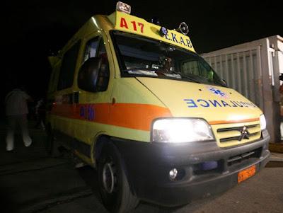 Ασθενοφόρο του ΕΚΑΒ με τραυματία, τράκαρε με αγελάδες