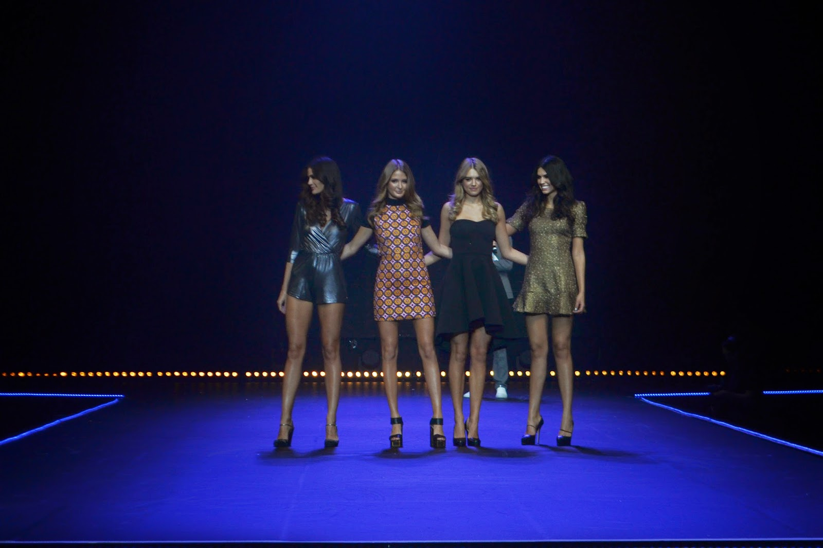 4 models on stage