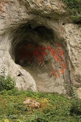 peinture rupestre contemporaine, Molignée