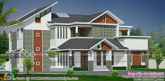 3546 square feet 5 bedroom modern home plan