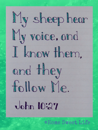 Scripture Writing, John 10:27