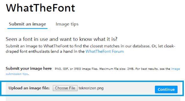 Cara Mengetahui Jenis Font Dari Gambar Tanpa Software