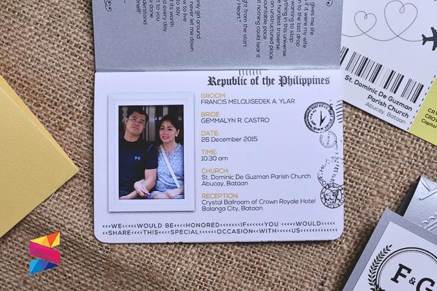 Francis Gemmalyn Passport Style Wedding Invitation Stunro – Passport Style Wedding Invitation