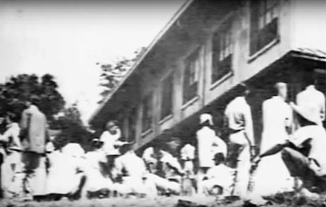 Once, it was estimated that some 30,000 people were inside the convent grounds.  Image captured from June Keithley and Center for Peace Asia documentary on YouTube.