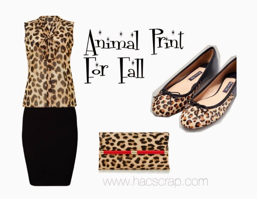 Ideas for wearing animal print this fall via My Scraps