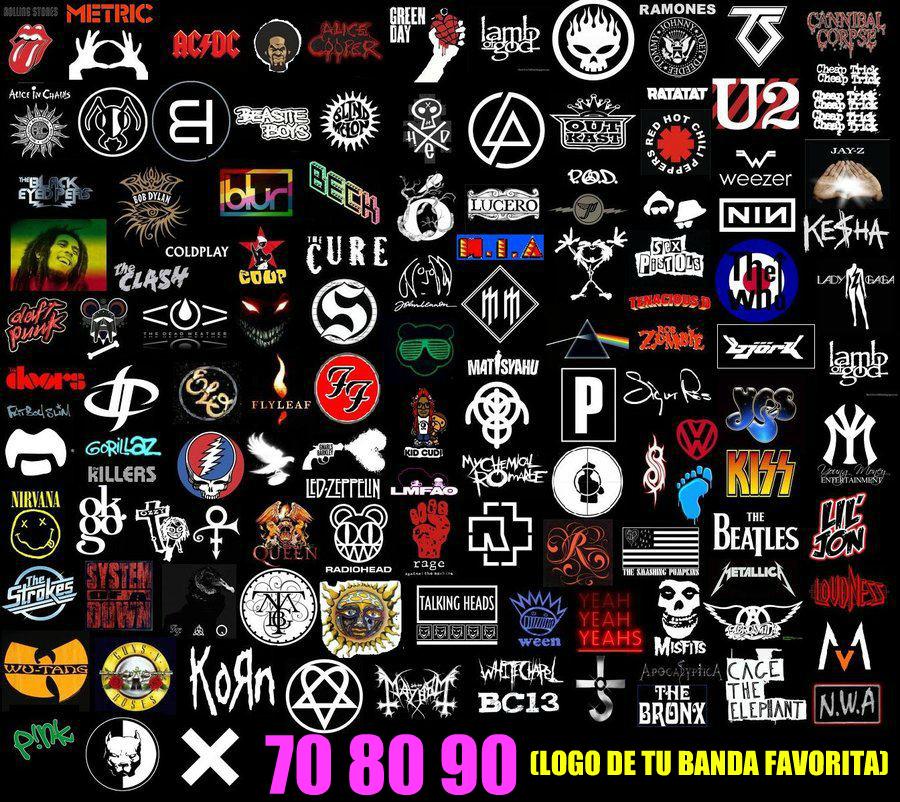 70 80 90 70 80 90 Conoces El Logo De Tu Banda De Rock