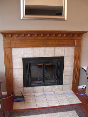 Freckles Chick Fireplace Mini Facelift