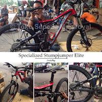 "Specialized Stumpjumper FSR Elite 2014 26"" size S Hitam Merah"