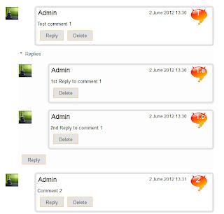 count comments, comment bubble, forum, blogger