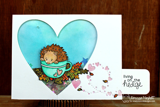 Fall Hedgehog Card by Crafty Larissa Heskett | Hedgehog Hollow Stamp set by Newton's Nook Designs #newtonsnook #hedgehog