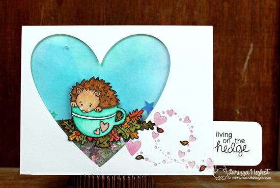 Fall Hedgehog Card by Crafty Larissa Heskett | Hedgehog Hollow Stamp set by Newton's Nook Designs #newtonsnook #hedgehog