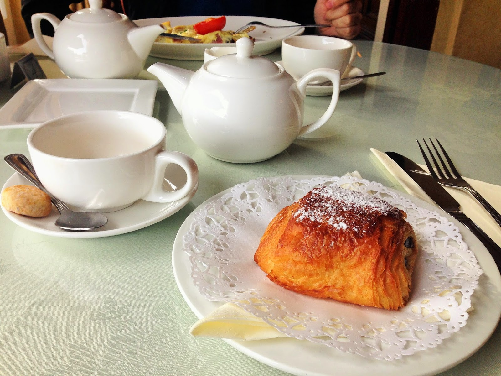 Tea and Pain au Chocolat