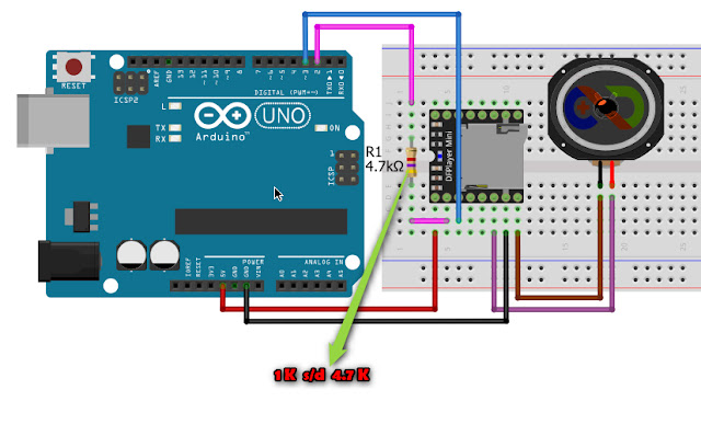 DFPlayer Arduino Uno