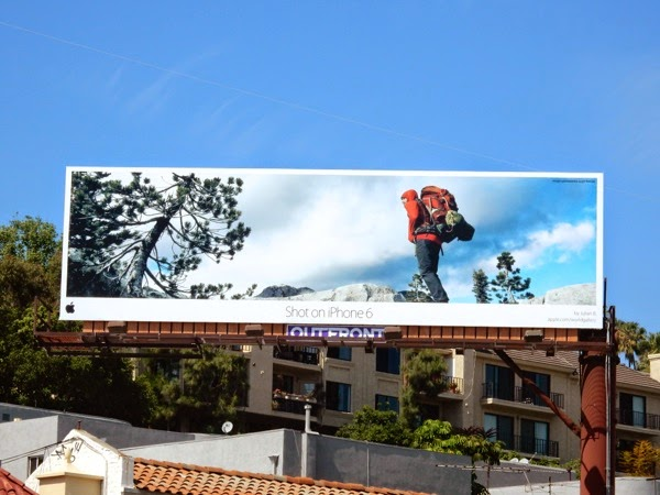 Shot on iPhone 6 Julian B hiking billboard