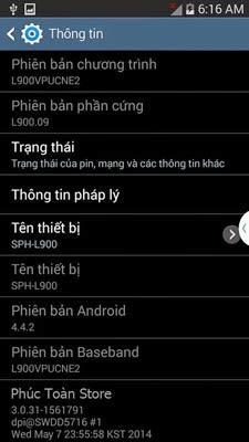 Tiếng Việt Samsung Sprint L900 alt