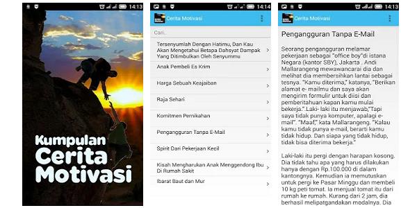 Aplikasi Beragam Kumpulan Cerita Motovasi Kehidupan